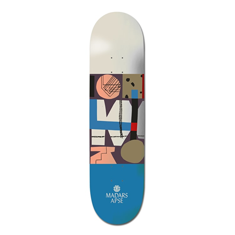 Element Quilted Skateboard Deck - Madars 8""
