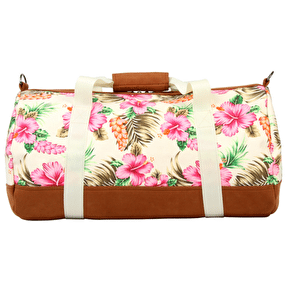 Mi-Pac Duffel Bag - Tropical Hibiscus Natural
