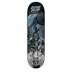 Creature Back To The Badlands Reyes Skateboard Deck - Black/Blue 8