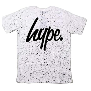 Hype Speckle T-Shirt - White/Black