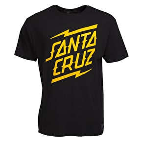 Santa Cruz Bolt Stack T-Shirt - Black