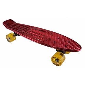 Karnage Chrome Retro Skateboard - Red/Yellow