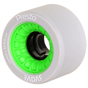 RADAR Presto 59mm Quad Derby Wheels 99A (4pk) Green