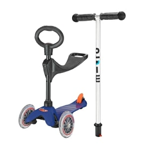Mini Micro 3-in-1 Ride On Scooter - Blue