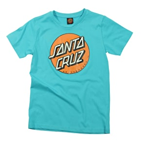 Santa Cruz Kids T-Shirt - Coloured Dot Cyan