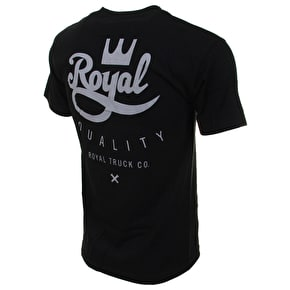 Royal Classic Crown Script T-Shirt - Black