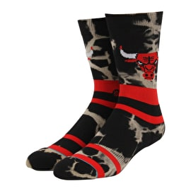 Stance NBA - Bulls Acid Wash Socks - Red