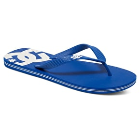 DC Spray Flip-Flops - Blue/White