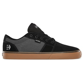 Etnies Barge LS Skate Shoes - Black/Dark Grey/Gum