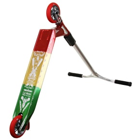 UrbanArtt Custom Scooter - Chrome/Matte Black/Red