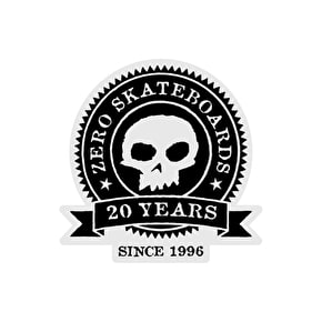 Zero Skateboard Sticker - 20th Anniversary