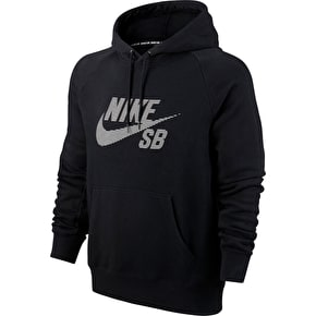 Nike SB Icon Stripe Hoodie - Black/White