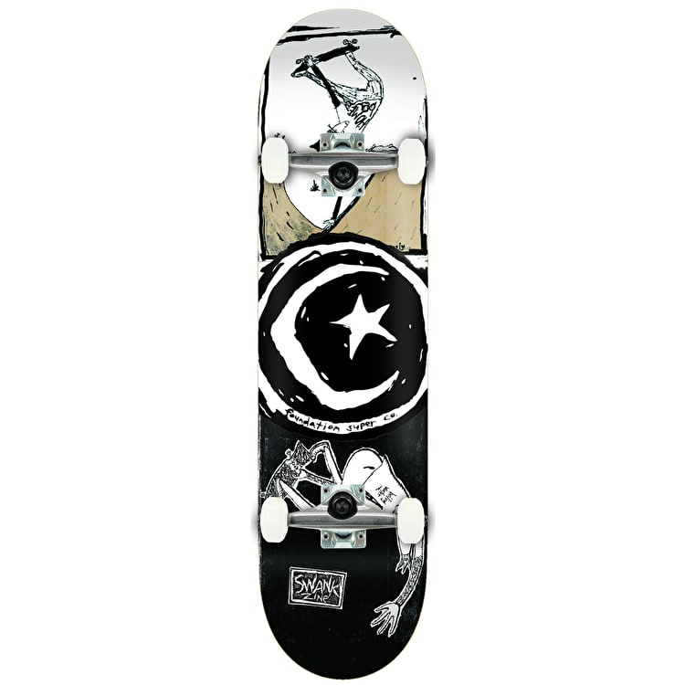 """Foundation Star & Moon Boiling Water Complete Skateboard - 8"""""""