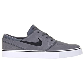 Nike SB Zoom Stefan Janoski Suede Shoes - Dark Grey/Black