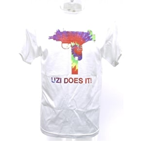 Skate Mental Uzi Does It White T-Shirt - Tie Dye