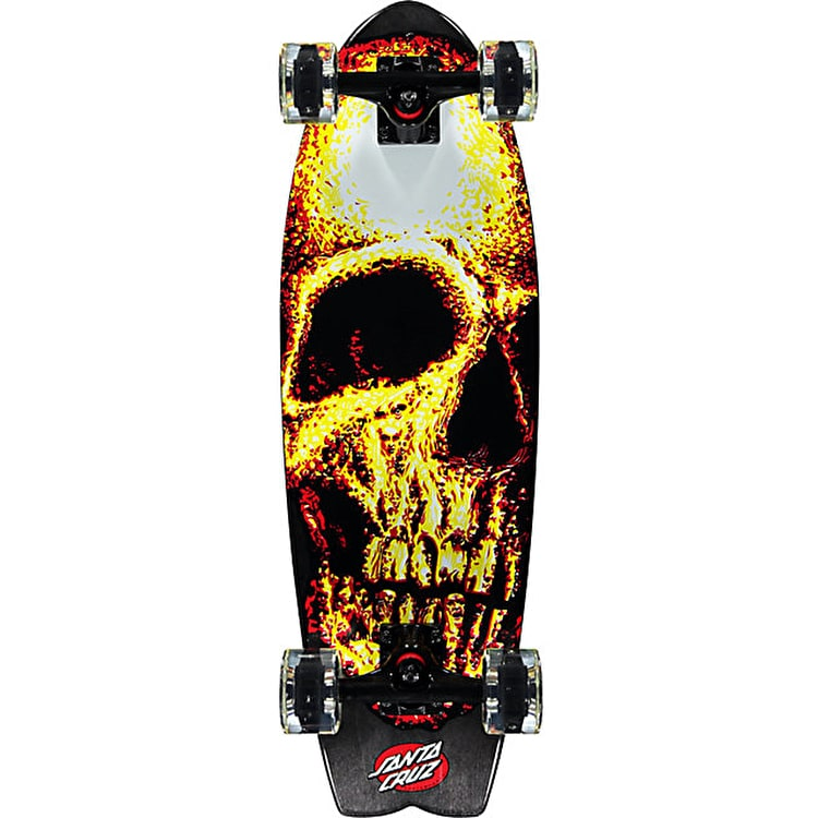 Santa Cruz Night Creeper Shark Glow Complete Cruiser - Glow in the Dark 27.7""
