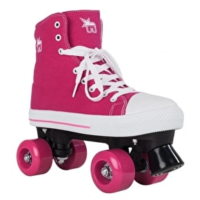 Rookie Canvas Quad Rollerskates - Pink UK 6 (B-Stock)