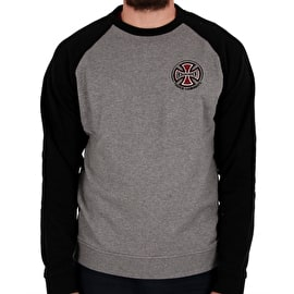 Independent TC Raglan Crew Neck - Black/Dark Heather