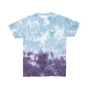 Rip N Dip Nermal Portrait T-Shirt - Blue Purple Acid Wash