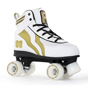 B-Stock Rio Roller Varsity Quad Skates - White/Gold - UK 8 (box damage)