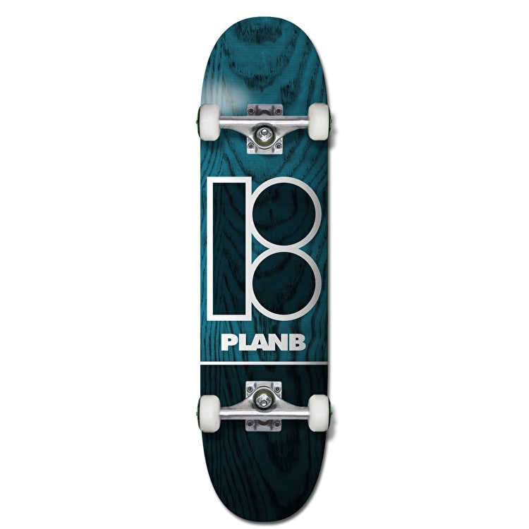 Plan B Team B Blue Stain Complete Skateboard - 7.75""