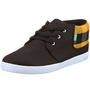 Keep Ramos Shoes - Black Yellow Flannel