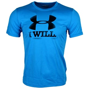 Under Armour CC Contender SS Tee- Pool/Black