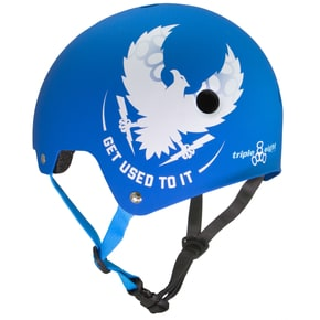 Triple 8 'Get Used To It' Brainsaver Dual Certified Helmet - Royal Blue Rubber