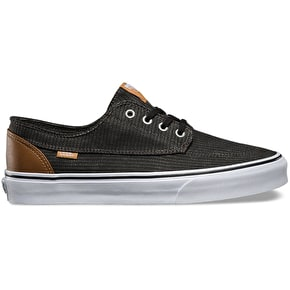 Vans Brigata Shoes - (Washed Herringbone) Jet Black