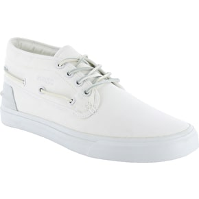 WeSC Lifestyle Ahab Shoes - White Canvas