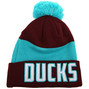 New Era NHL Anaheim Mighty Ducks Beanie - Claret/Turquoise