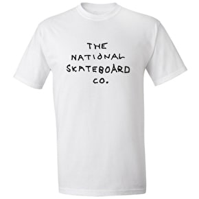 National Skateboard Co Left Handed Logo T-Shirt - White