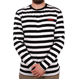 Diamond Supply Co Diamond Striped Long Sleeve T-Shirt - Black/White