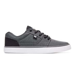 DC Tonik TX SE Skate Shoes - Black/Dark Grey/White