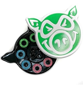 Pig Skateboard Bearings - Neon Abec 5
