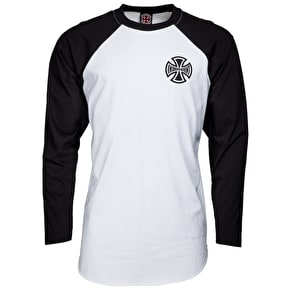 Independent Past, Present, Future Longsleeve Baseball T-Shirt - Black/White