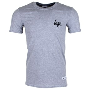 Hype Mini Script Logo T-Shirt - Grey/Black