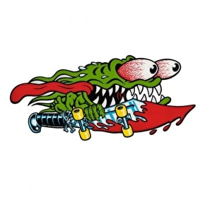 Santa Cruz Skateboard Sticker - Slasher Sword 6