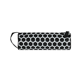 Mi-Pac Honeycomb Pencil Case - Black/White