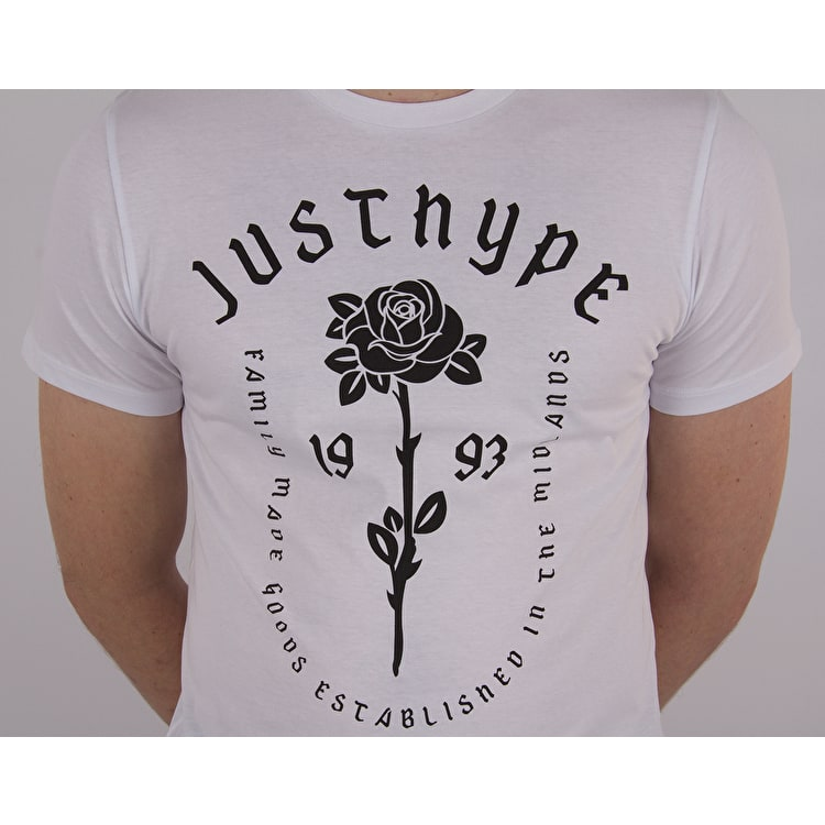 Hype Rose Dish T shirt - White/Black