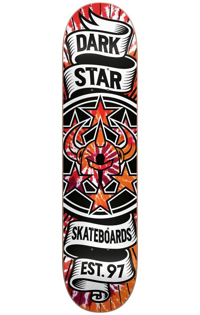 Image of Darkstar Civil Emboss Skateboard Deck - Tie Dye Orange 8.25""