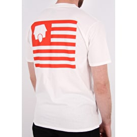 SkateHut Statehut T shirt - White/Red