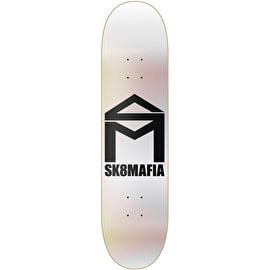 Sk8 Mafia House Logo Foil Skateboard Deck - Chrome 8.25