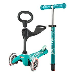 Mini Micro 3in1 Deluxe Complete Scooter - Aqua