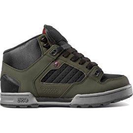 DVS Militia High Top Skate Shoes - Olive/Black Nubuck Ferguson