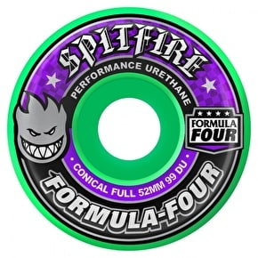 Spitfire Formula Four Conical Skateboard Wheels - Hot Green 52mm