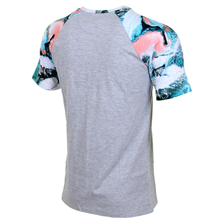 Hype Peach Snow Raglan T shirt