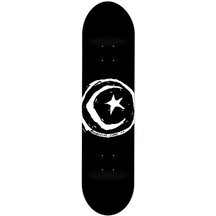 Foundation Star & Moon Skateboard Deck - Black 8""