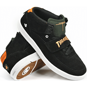 DVS x Thrasher Torey 3 Skate Shoes - Black/White