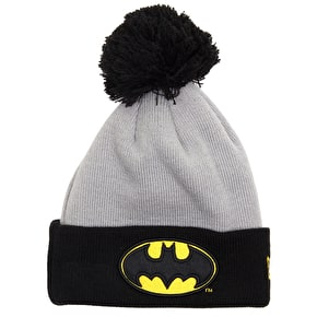 New Era Batman Bobble Beanie - Black/Yellow